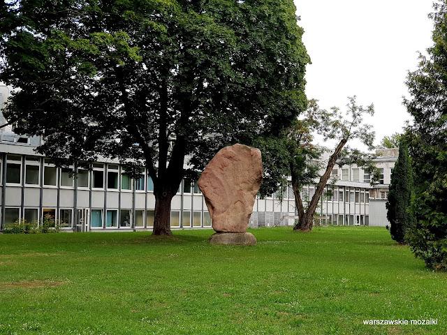 Warszawa Warsaw pomnik Alfons Karny pomnik AWF