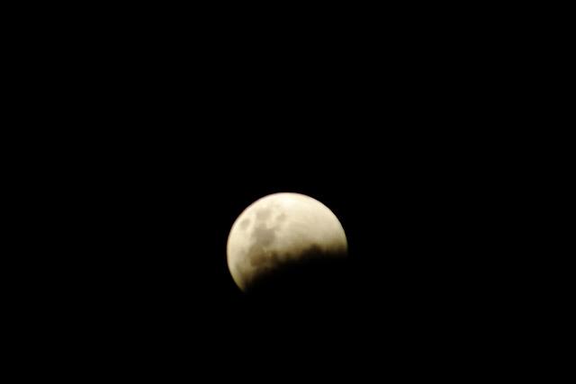 Eclipse - Super Lua - São Paulo. Créditos: Richard Cardial / Galeria do Meteorito