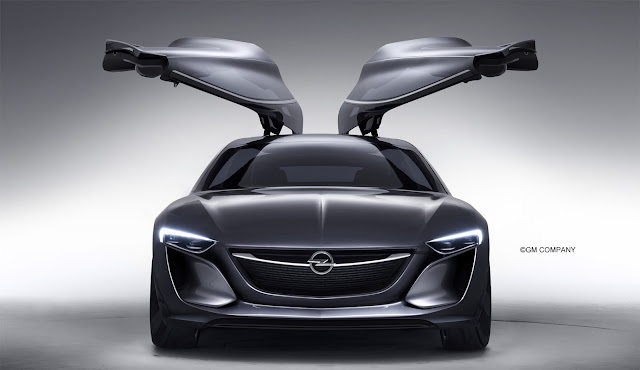 Opel with wing doors