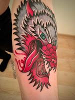 кровожадный волк тату