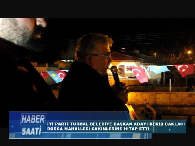 BAKLACI BORSA MAHALLESİ SAKİNLERİNE SESLENDİ.