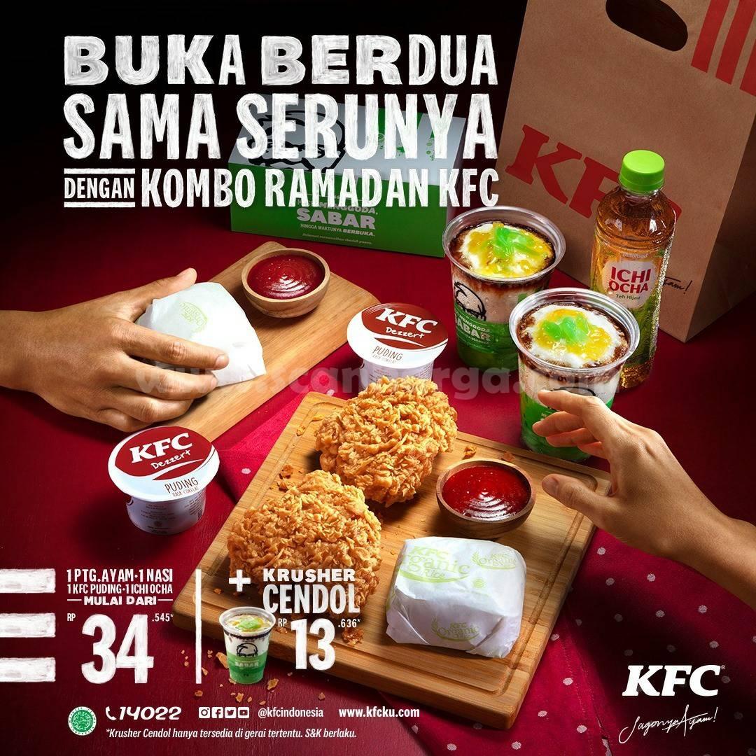KFC Promo Kombo Ramadan - harga mulai Rp 34.545 + Krusher Cendol Rp 13.636