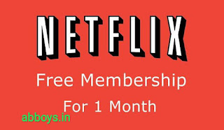 netflix free account in 1 month