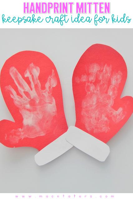 Handprint Mittens