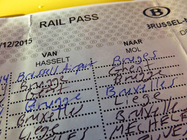10 Journey Rail Pass in Belgium