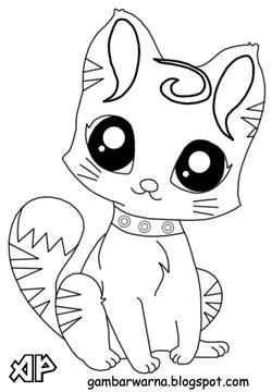 Mewarnai Kucing | Belajar Mewarnai Gambar