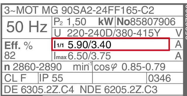 How to read the Induction Motor Nameplate data