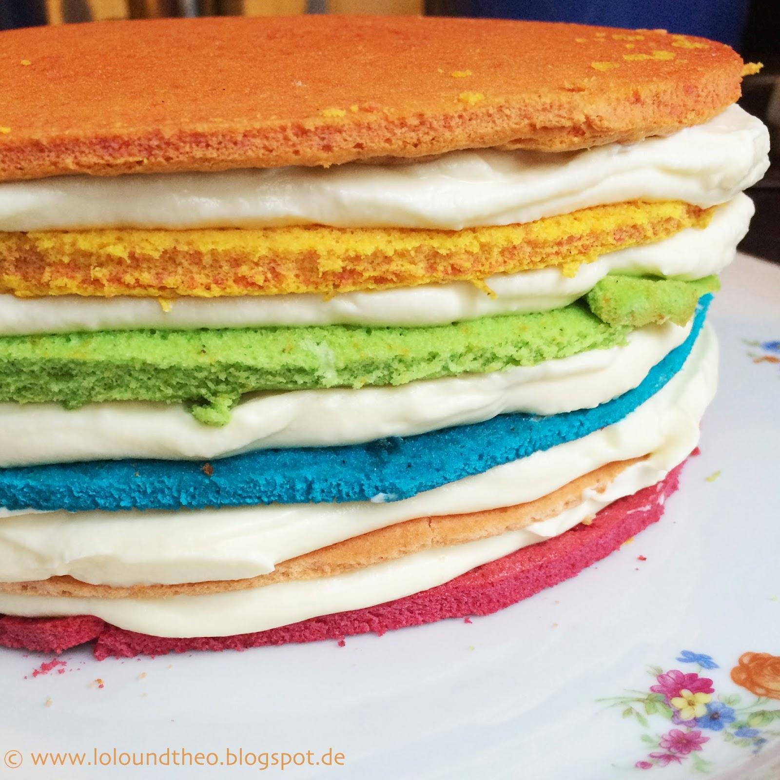 Lolo Und Theo Happy Birthday 4 Jahre Und Ein Regenbogenkuchen