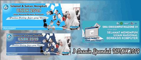 Download 3 Desain Spanduk Sukses UNBK 2019