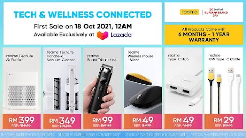 STAY TECH & WELLNESS CONNECTED WITH THE LATEST ADDITIONS OF THE REALME AIOT FAMILY