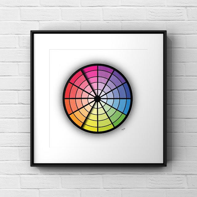 Analogous Colour Wheel by Mark Taylor