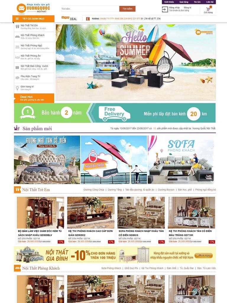 Template blogspot bán hàng siêu thị nội thất đẹp - Ảnh 1