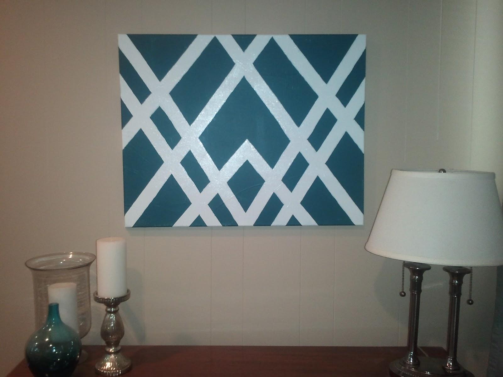 cardigan junkie: Pinterest Challenge: DIY Geometric Art