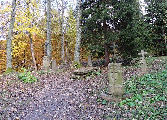 Pozostałości cmentarza wsi Berehy Górne.