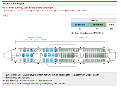JAL official 787 seat map