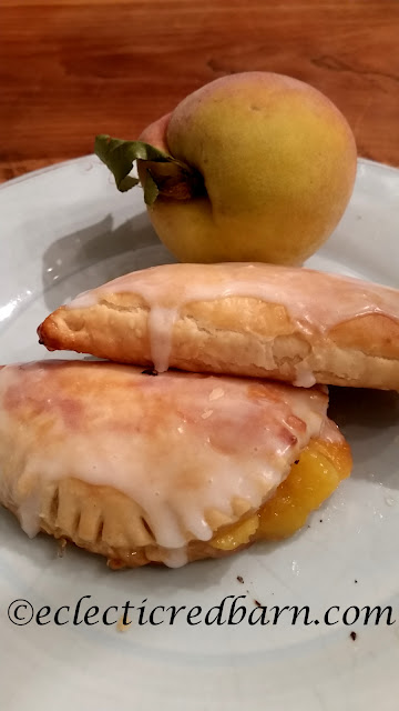 Eclectic Red Barn. Share NOW.  #eclecticredbarn  #dessert #freshpeaches #handpies #piefilling