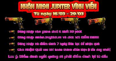 Nhận M1911 JUPITER vĩnh viễn miễn phí