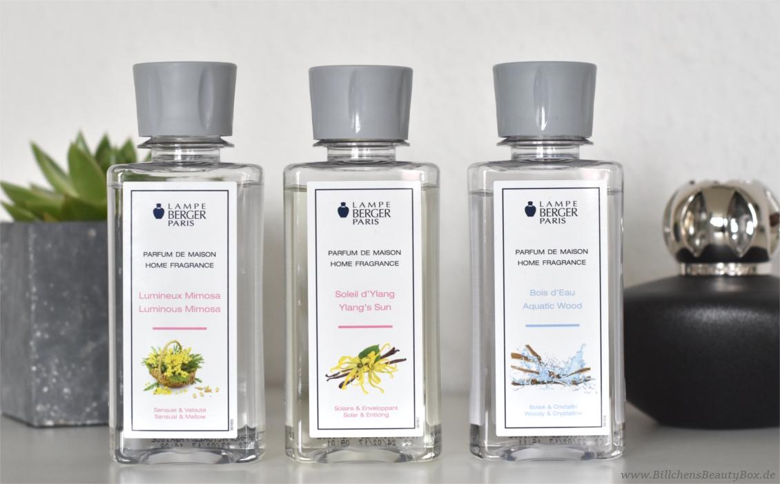 Lampe Berger - Parfum Duftbeschreibungen - Luminious Mimosa - Ylang's Sun - Aquatic Wood