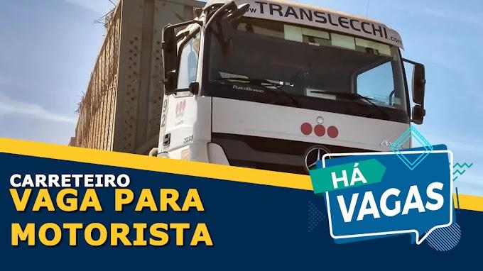 Transportadora Lecchi abre vagas para motorista truck