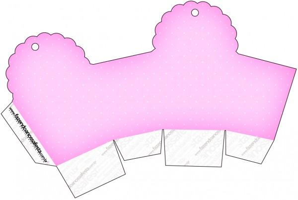 Caja para cupcakes, chocoltes o golosinas de Corazones Rosa.
