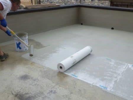 Liquid membrane waterproofing method
