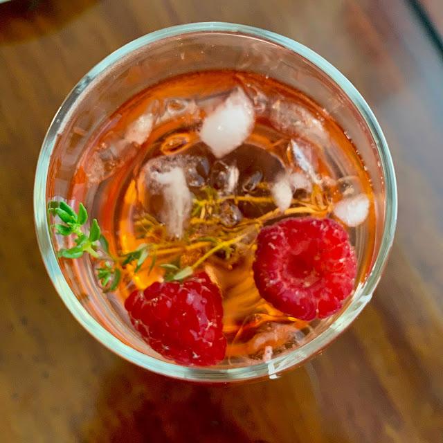 "Refreshing Healthy Summer Drink - Alcohol Free White Wine ""Kir"" Spritzer"