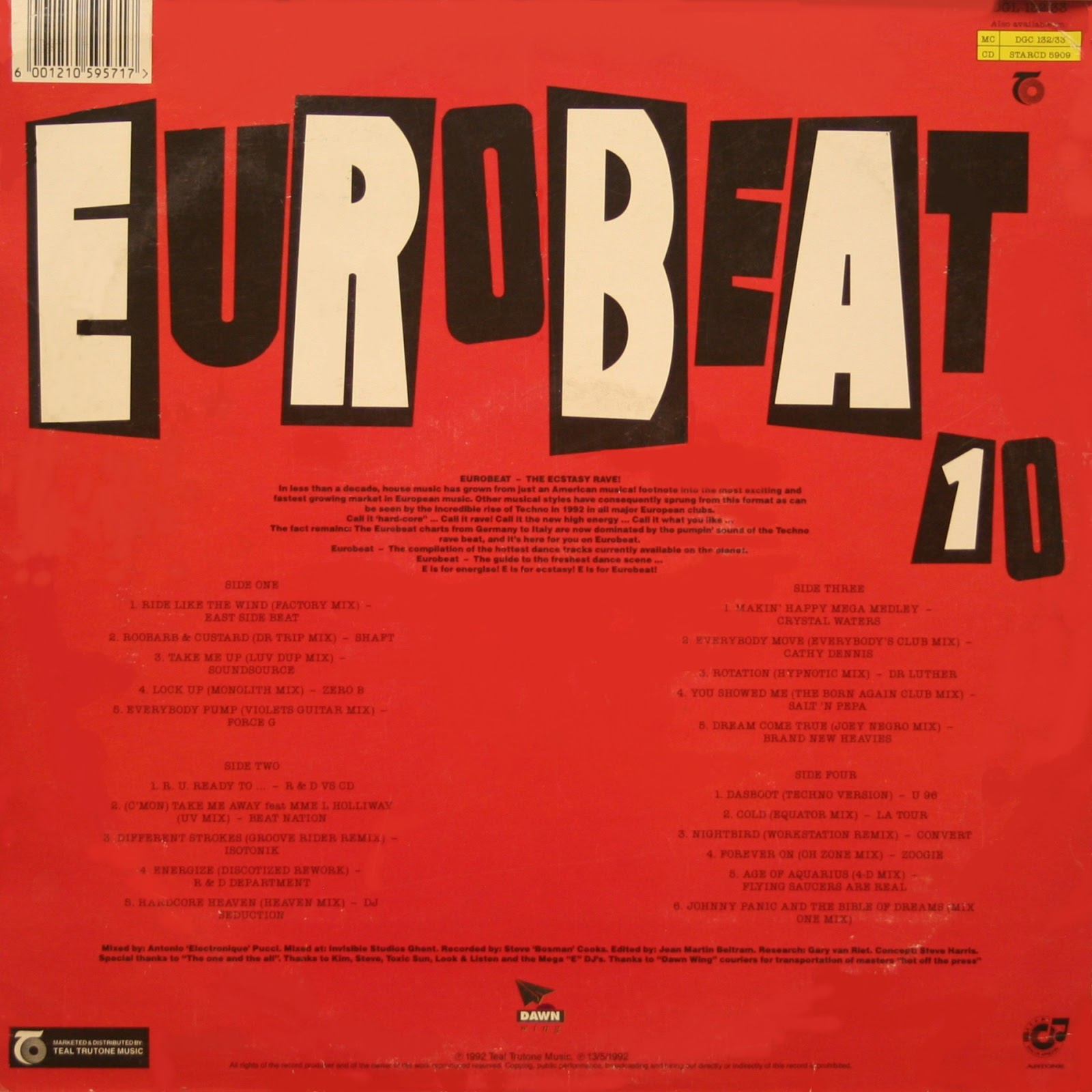 Retro disco hi nrg eurobeat volume 10 90 minute non for Classic 90s house vol 2