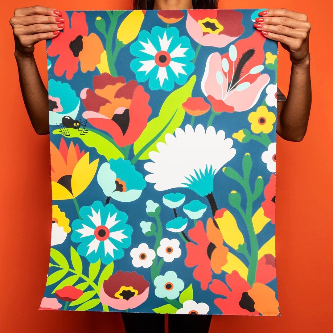 a1ee4416df The Blot Says...: NTWRK Exclusive DABSMYLA Floral Screen Print