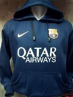 Jaket Hoodie Barcelona Navy Qatar Airways