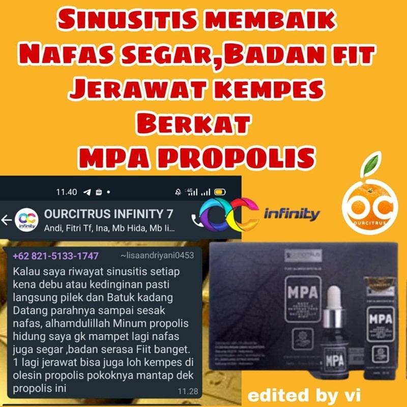 sinusitis sembuh dengan MPA Propolis Ourcitrus
