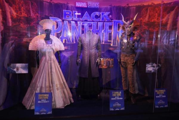 Black Panther movie costume exhibit