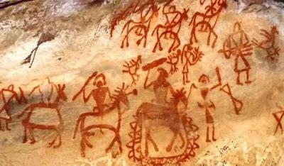ভীমবেটকা গুহাচিত্র | bhimbetka cave art | vimbetka cave art