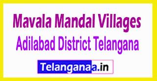 Mavala Mandal and Villages in Adilabad District Telangana