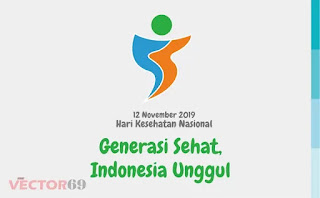 Logo Hari Kesehatan Nasional (HKN) 12 November 2019: Generasi Sehat, Indonesia Unggul - Download Vector File SVG (Scalable Vector Graphics)