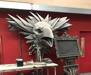 Mounted Eagle head and other stage props from LS Live Productions Park
