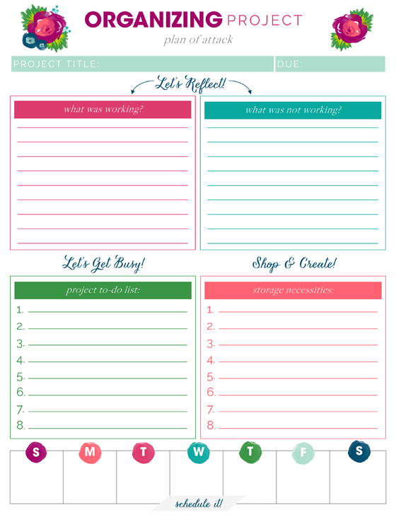 photograph regarding Free Printable Home Organization Worksheets named IHeart Planning: Cost-free Printables
