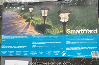 Costco 962780 - SmartYard LED Solar Pathway Lights model 10192: great for both the front and back of your house