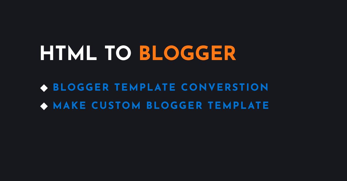Convert HTML to Blogger XML