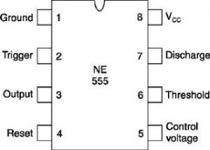 IC 555 pinout details