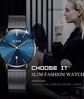 OLEVS Inexpensive Stainless Steel Women Watch