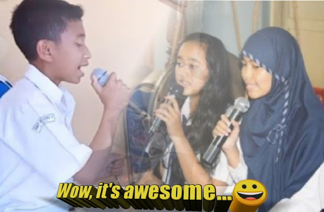 Fun with singing: bergembira dengan menyanyi SMPN 02 Lariang