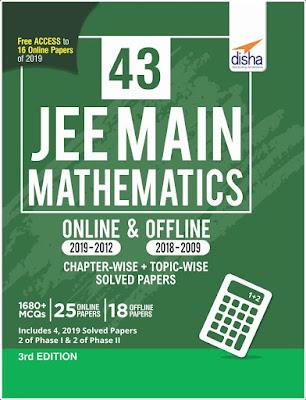Disha 43 JEE Main Mathematics Solved Papers (2002-2019) Pdf Download