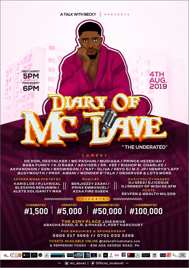 Events: Diary of Mc dave