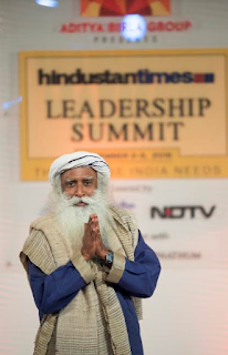 """We aren't very far from buying and selling human beings"", says Sadhguru Jaggi Vasudev at Hindustan Times Leadership Summit"