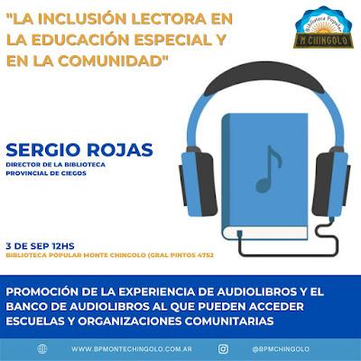 El director de la Biblioteca Braille y Parlante de la provincia de Buenos Aires visita la Biblioteca Popular Monte Chingolo