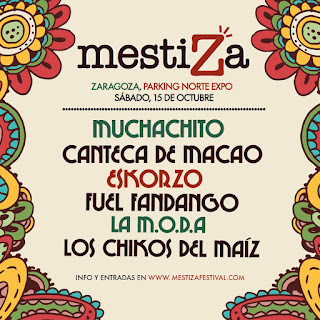 Cartel Meztiza Festival Zaragoza