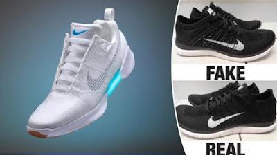 Sepatu Basket Asli dan Palsu