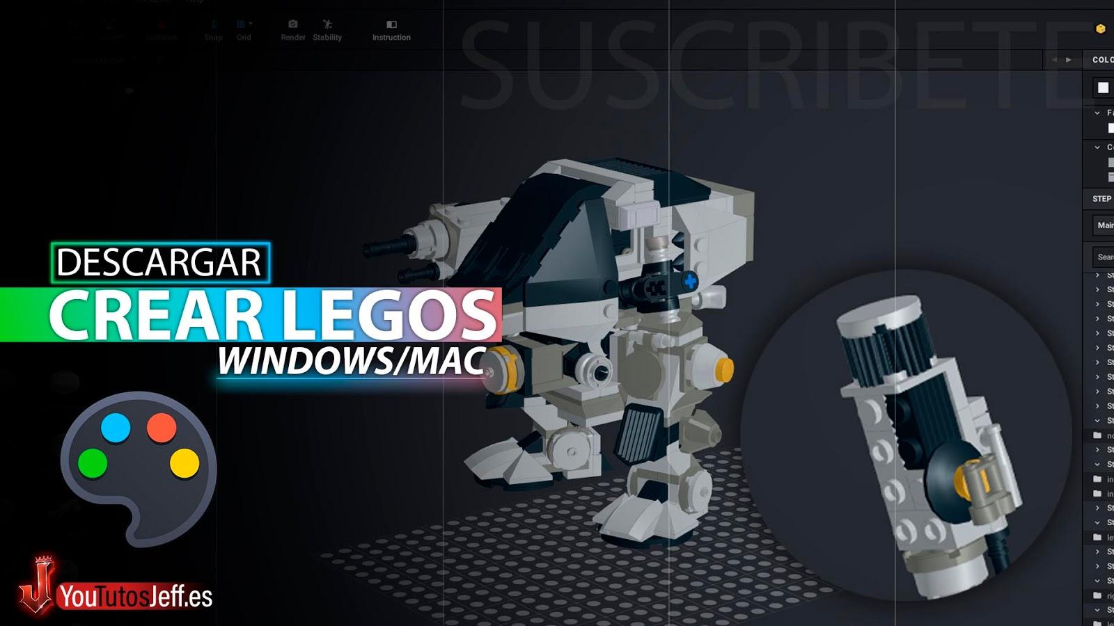 Contruye Legos en 3D, Descargar BrickLink Studio Ultima Versión