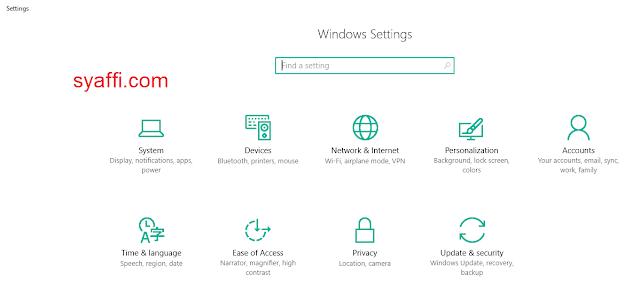 12. Setting pada Windows 10 syaffi com