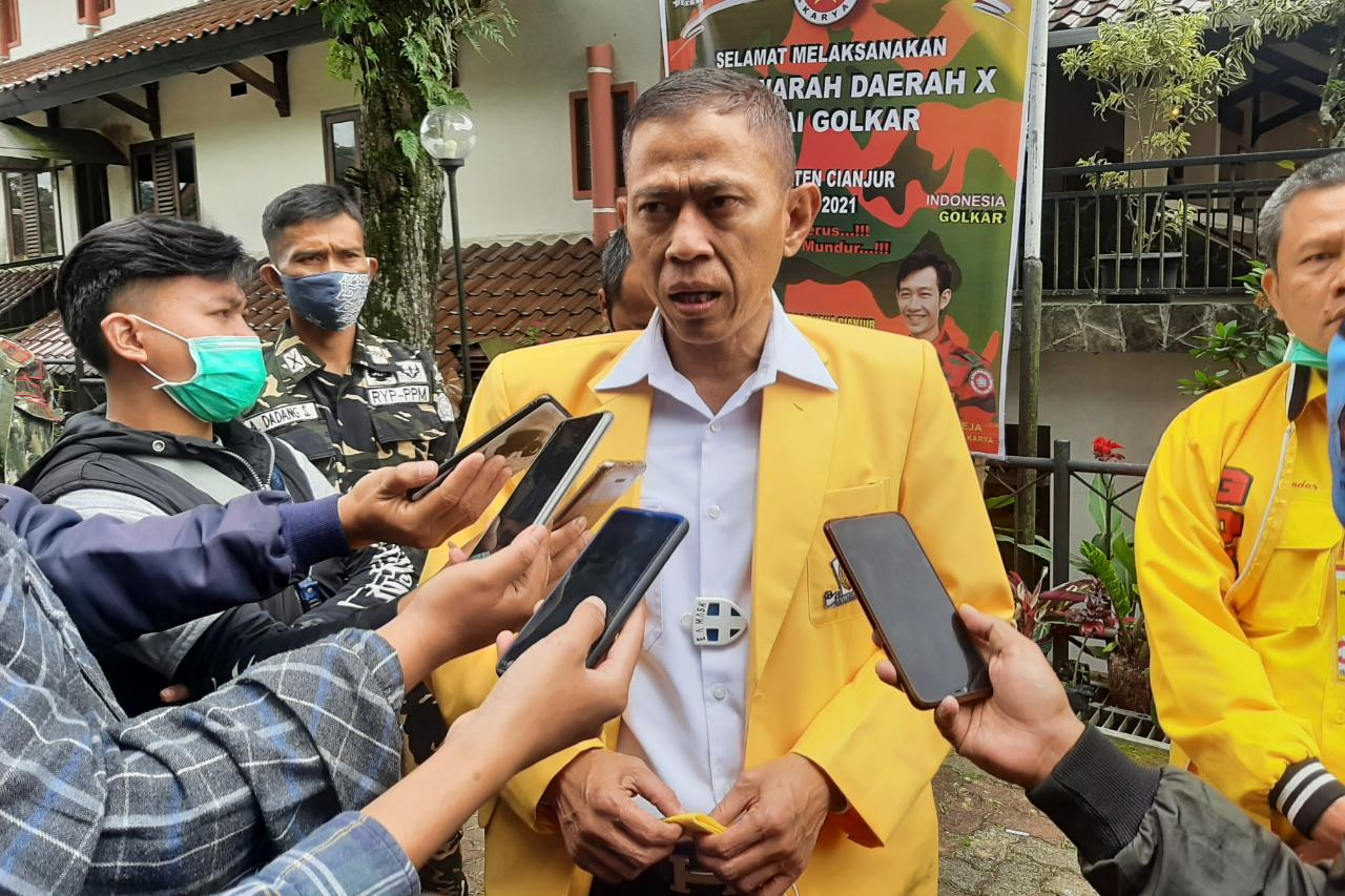 Secara Aklamasi Tb Mulyana Syahrudin Pimpin Kembali DPD Partai Golkar Cianjur